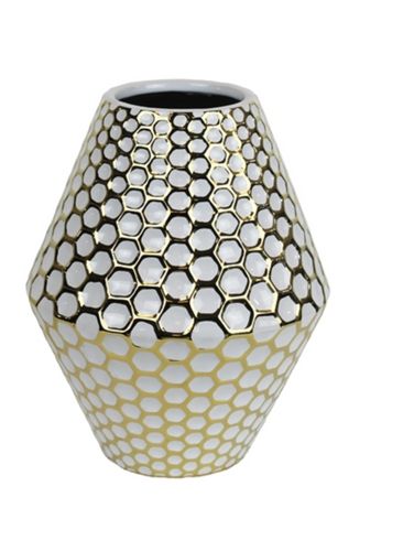 Vase White Gold Small