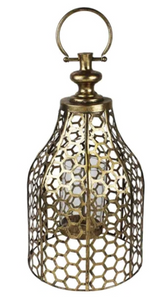Lantern Metal Gold Small