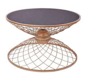 Coffee Table Gold Wire