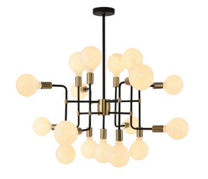 Chandelier Black And Gold Metal