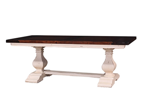 Dining Table Rectangle Two Pedestal