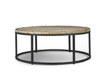 Coffee Table Round Iron Wood