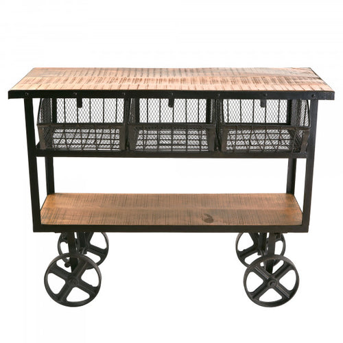Bar Cart Industrial Storage