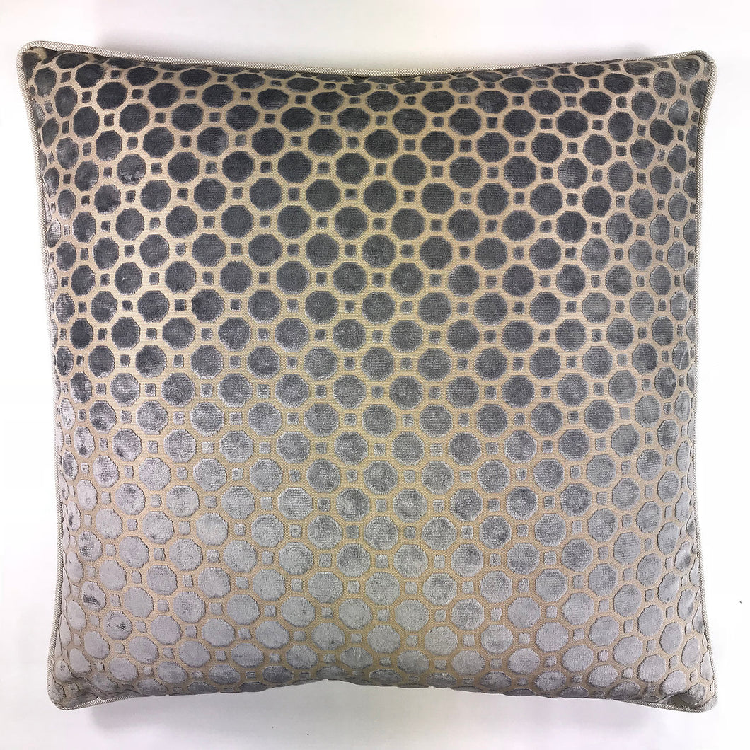 Pillow Geo Velvet Grey SP