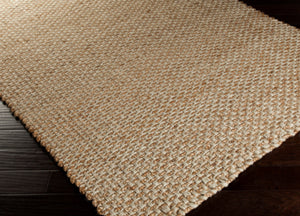 Rug Jute Tan And Cream 2x3