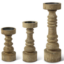Candle Holder Wood Small