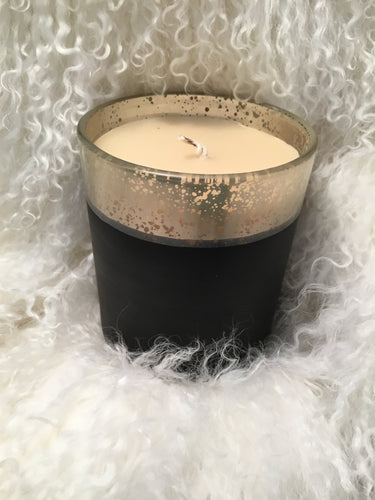 Candle Red Currant Black Silver
