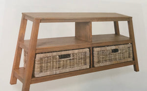 Console Table Wood Storage