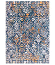 Rug Boho Navy And Burnt Orange 2x3