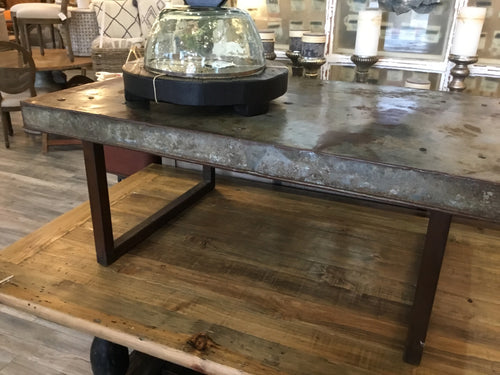 Coffee Table Metal Top And Base