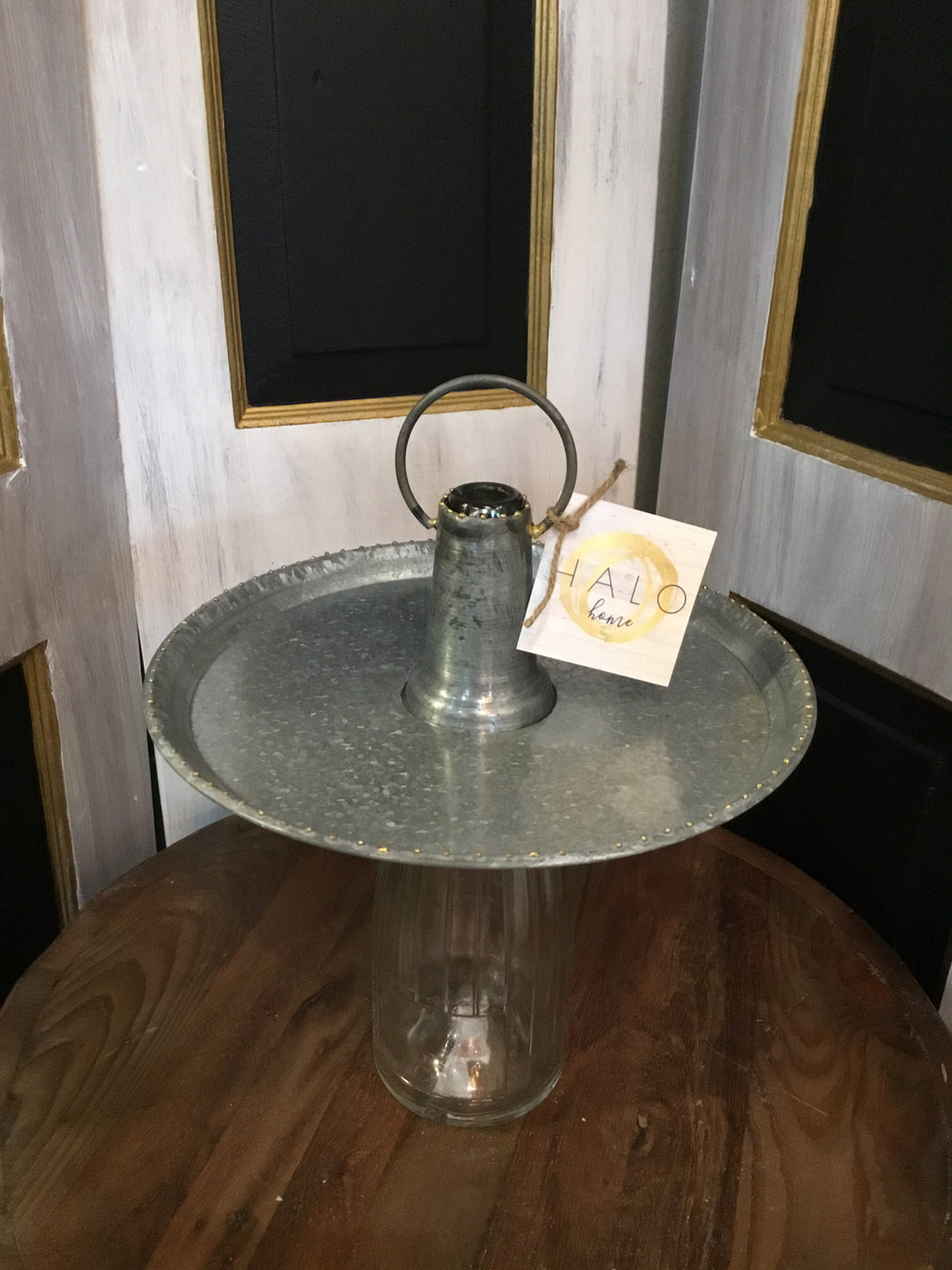 Bottle Topper Serving Tray Round