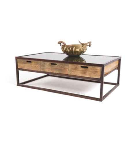 Coffee Table 3 Wood Drawers