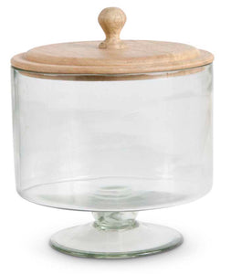 Bowl On Pedestal Glass With Lid