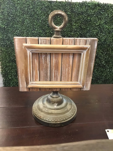 Frame Wood Metal Pedestal