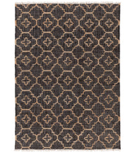 Rug Jute Black And Khaki 5x8