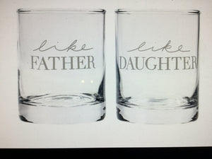 Glass Set RocksFather Daughter