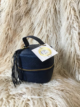 Bag Cosmetic Navy Leather