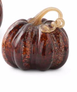 Pumpkin Glass Tortoise Medium