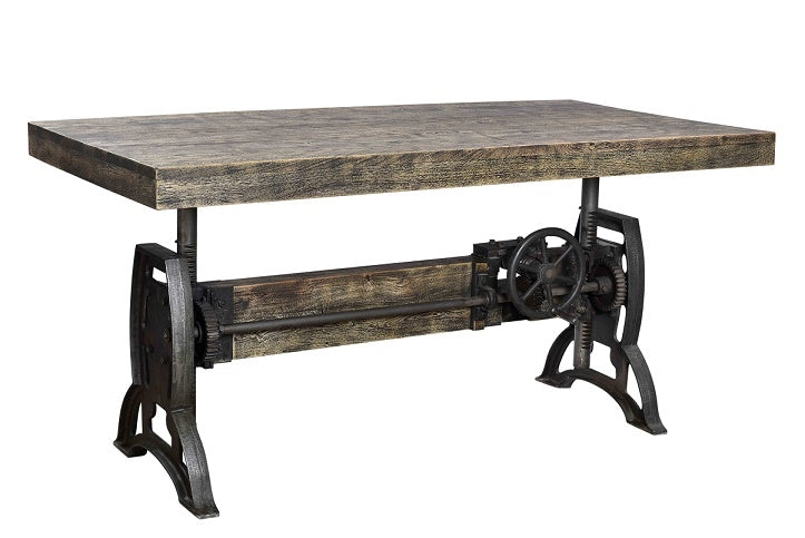 Dining Table Crank Rustic Top