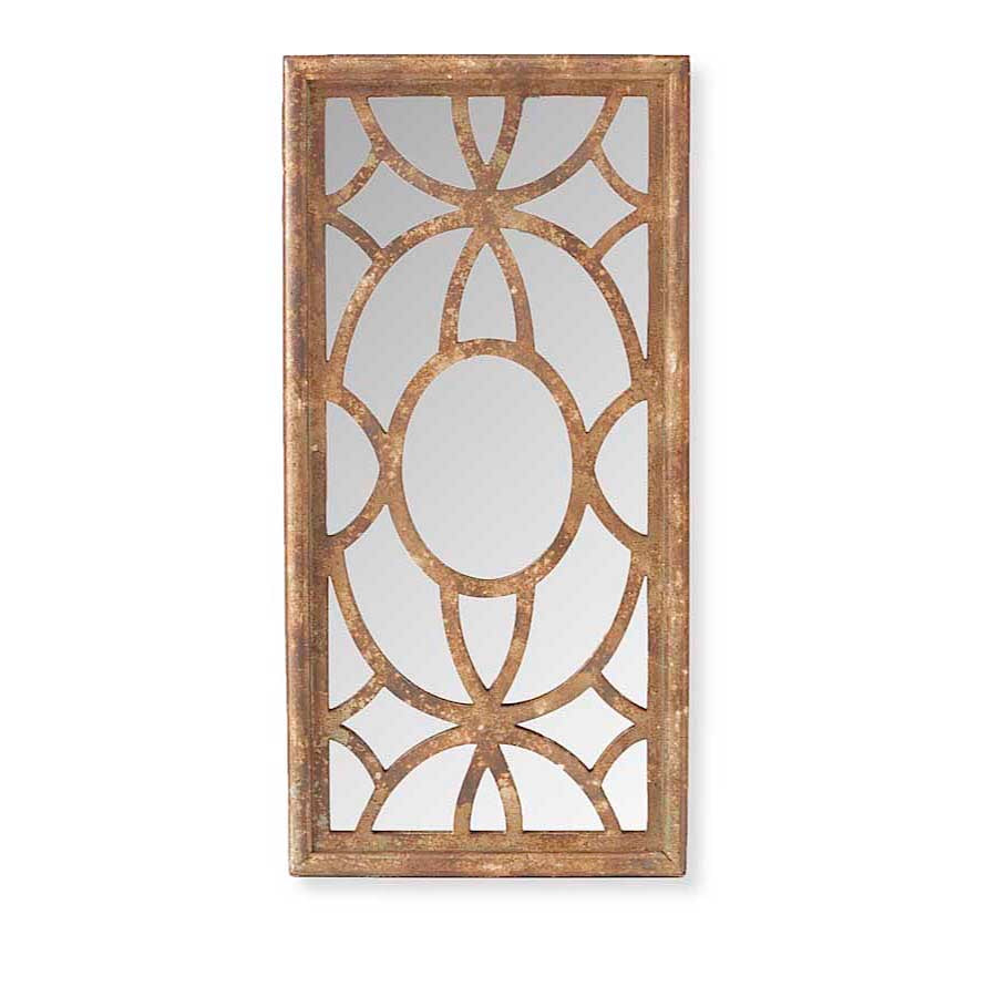 Mirror Brown Rectangular Framed With Overlay
