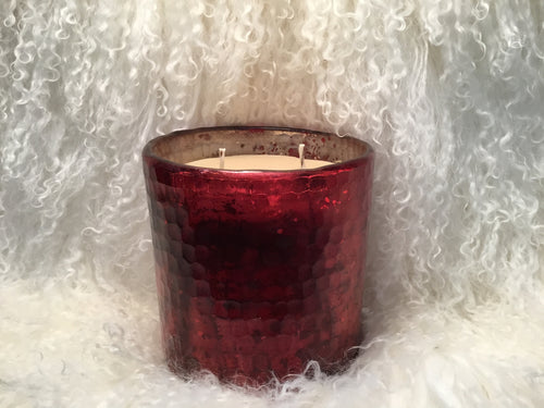Candle Red Currant Red Glass