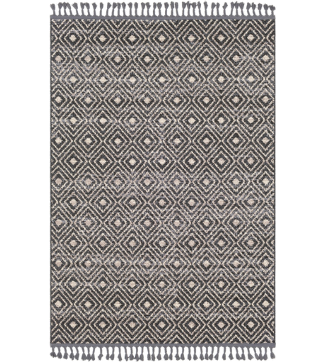 Rug Gray And Cream Diamond 5x7