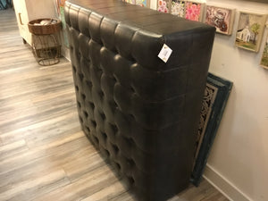 Ottoman Tufted Charcoal Square