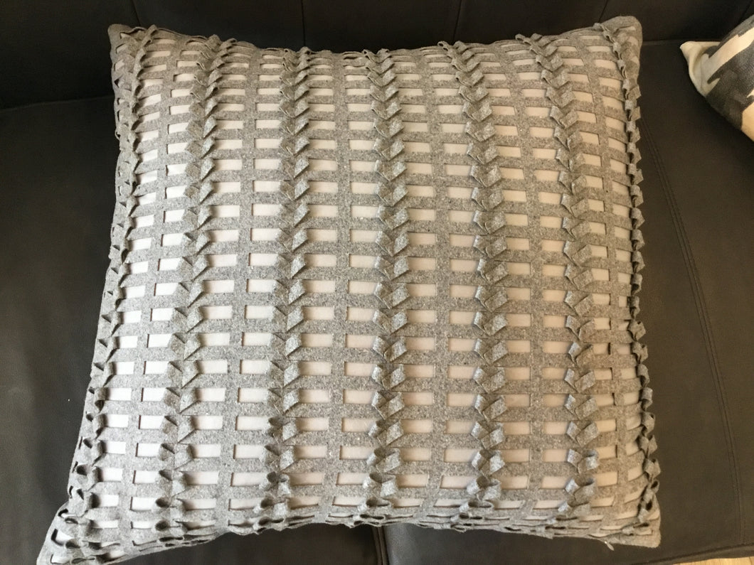 Pillow Gray Threaded