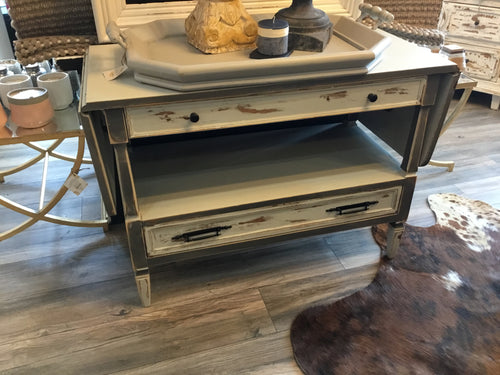 Bar Cart Grey Distressed