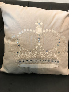 Pillow Taupe Crown