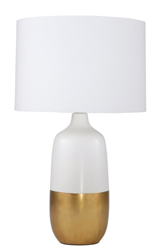 Lamp White Gold Ceramic