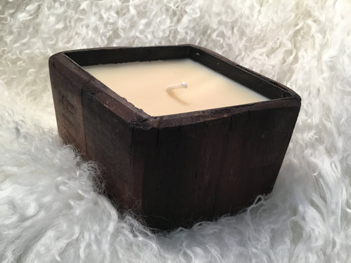 Candle Red Currant Wood Diamond