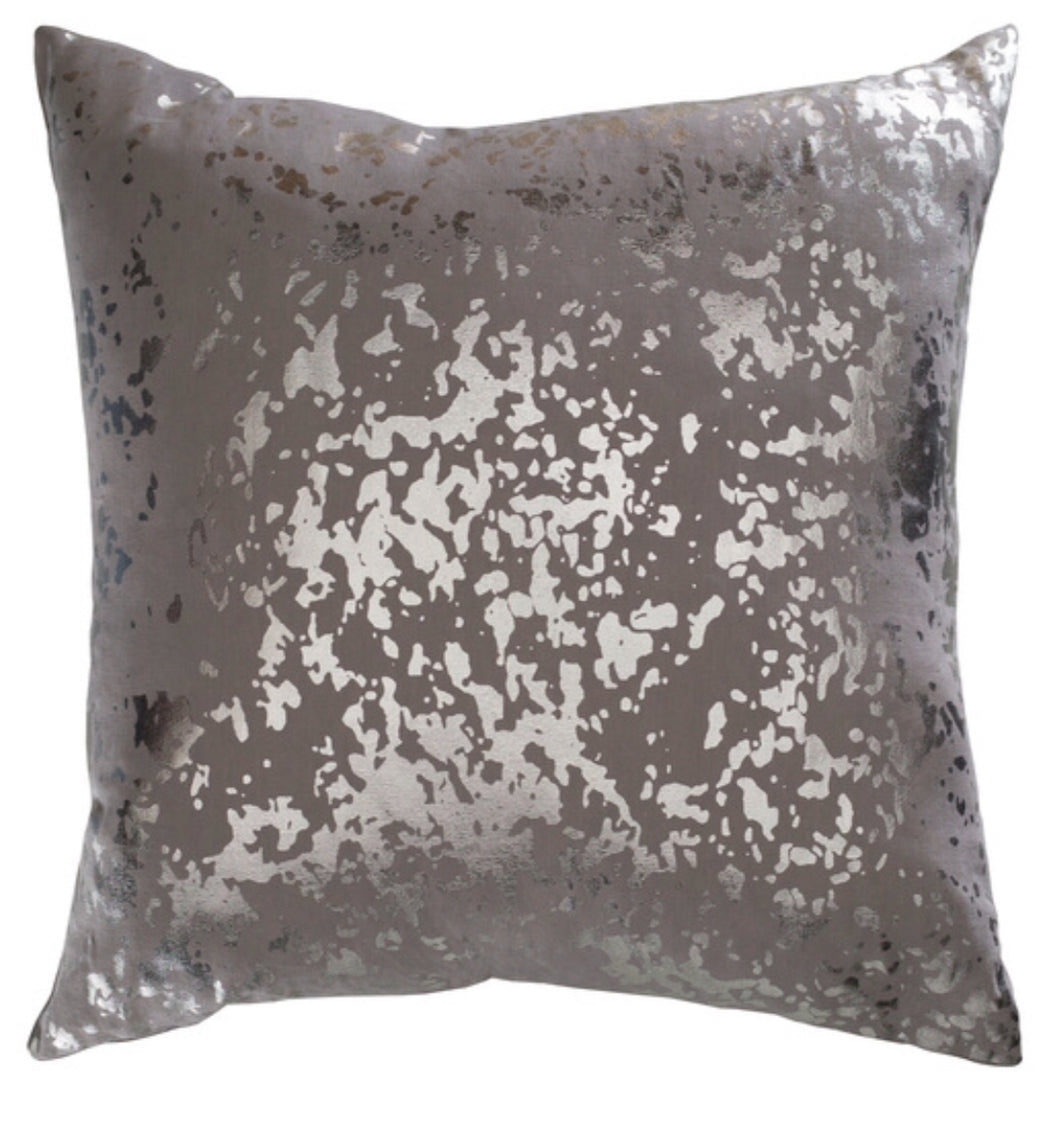 Pillow Gray With Silver Speckles