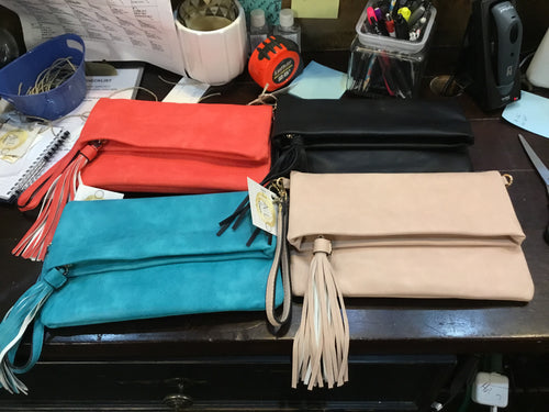 Bag Clutch Flap over Tassel
