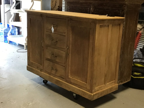 Buffet Cabinet Sideboard 4 Drawer 2 Doors Bleached