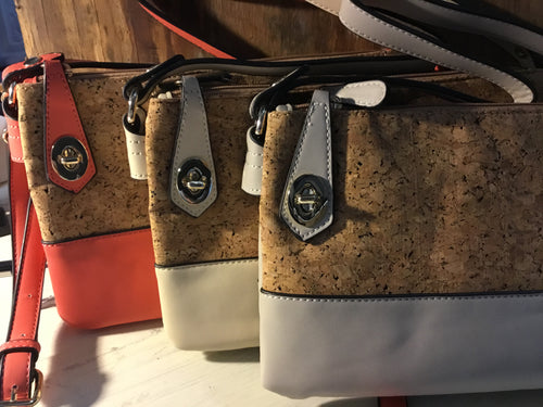 Bag Crossbody Cork Two tone