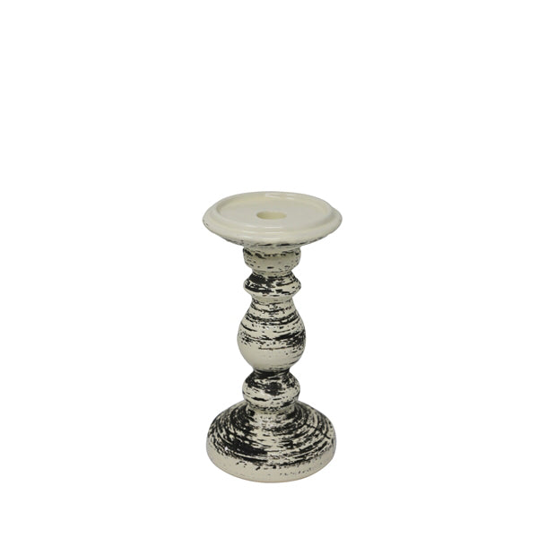 Candle Holder Black White Small