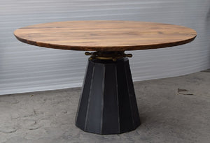 Dining Table Round Crank