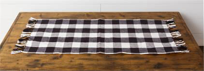 Table Runner Black And White Checkered