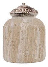 Canister Jar Frosted Ribbed Medium