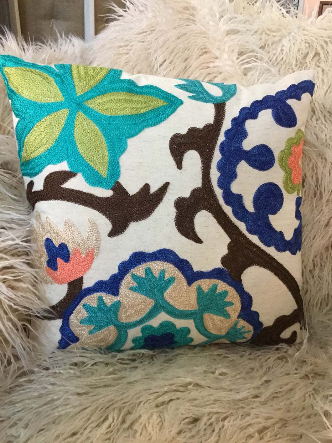 Pillow Multi Embroidery