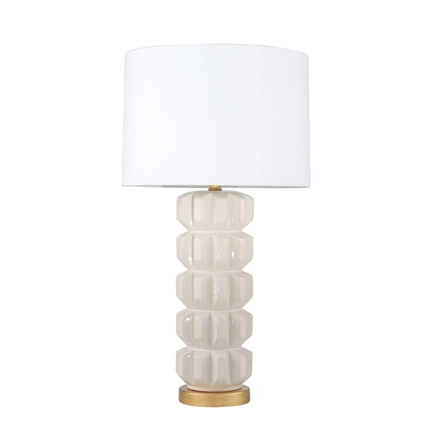 Lamp White Gold Circle Stacked