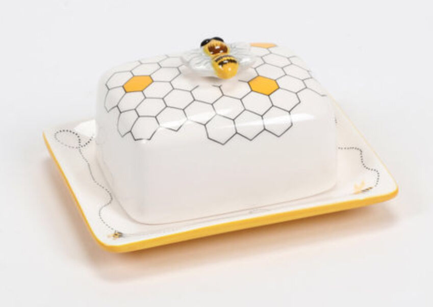 Butter dish Bee Ceramic