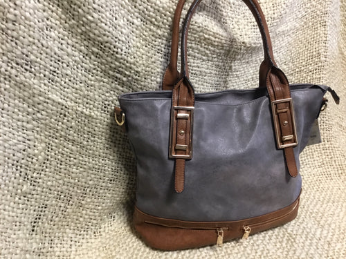 Tote Bag Two tone Ash/Brown