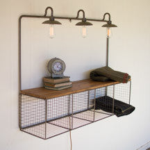 Wire Cubby Metal Wood