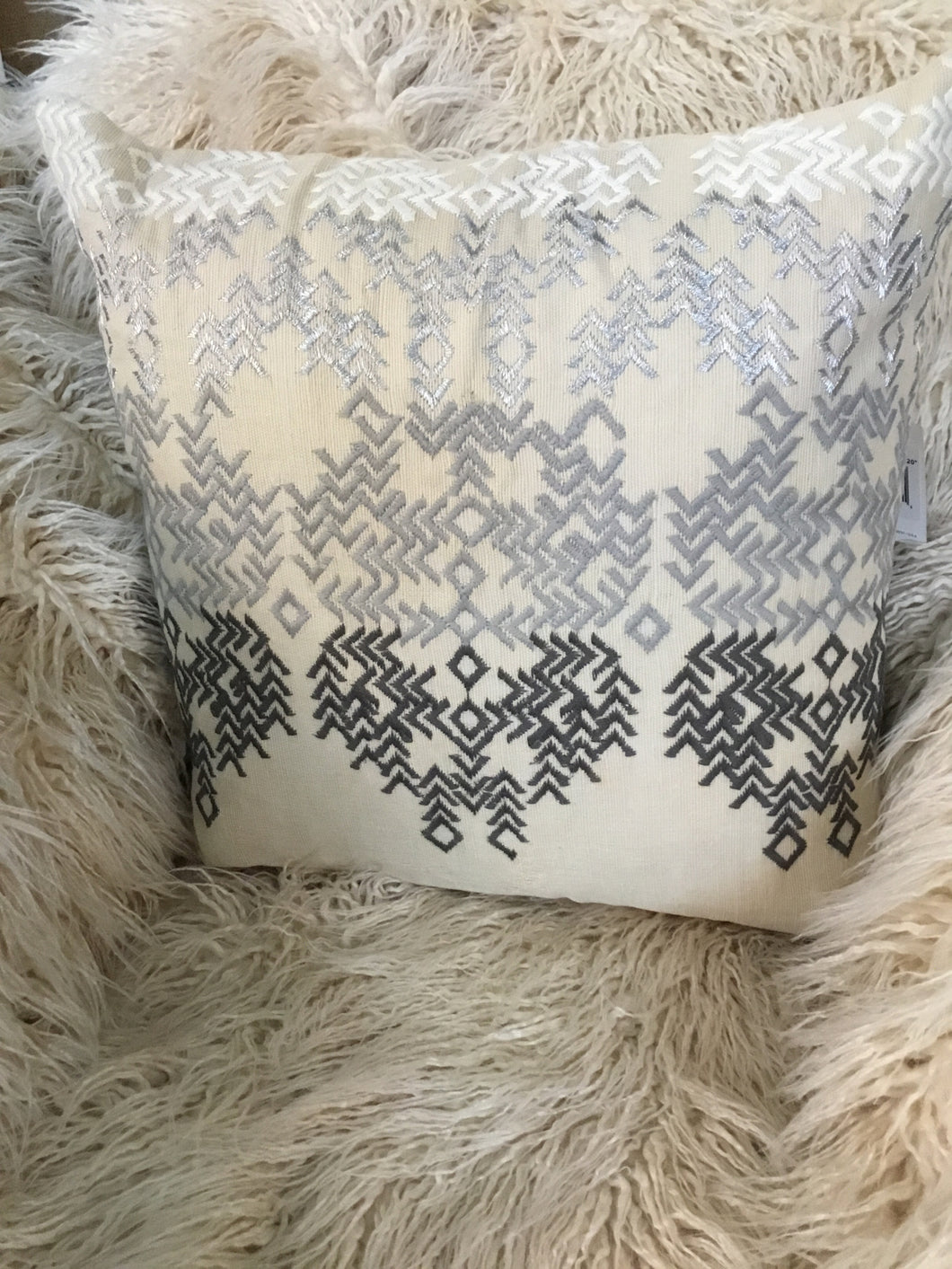 Pillow Beige Embroidery