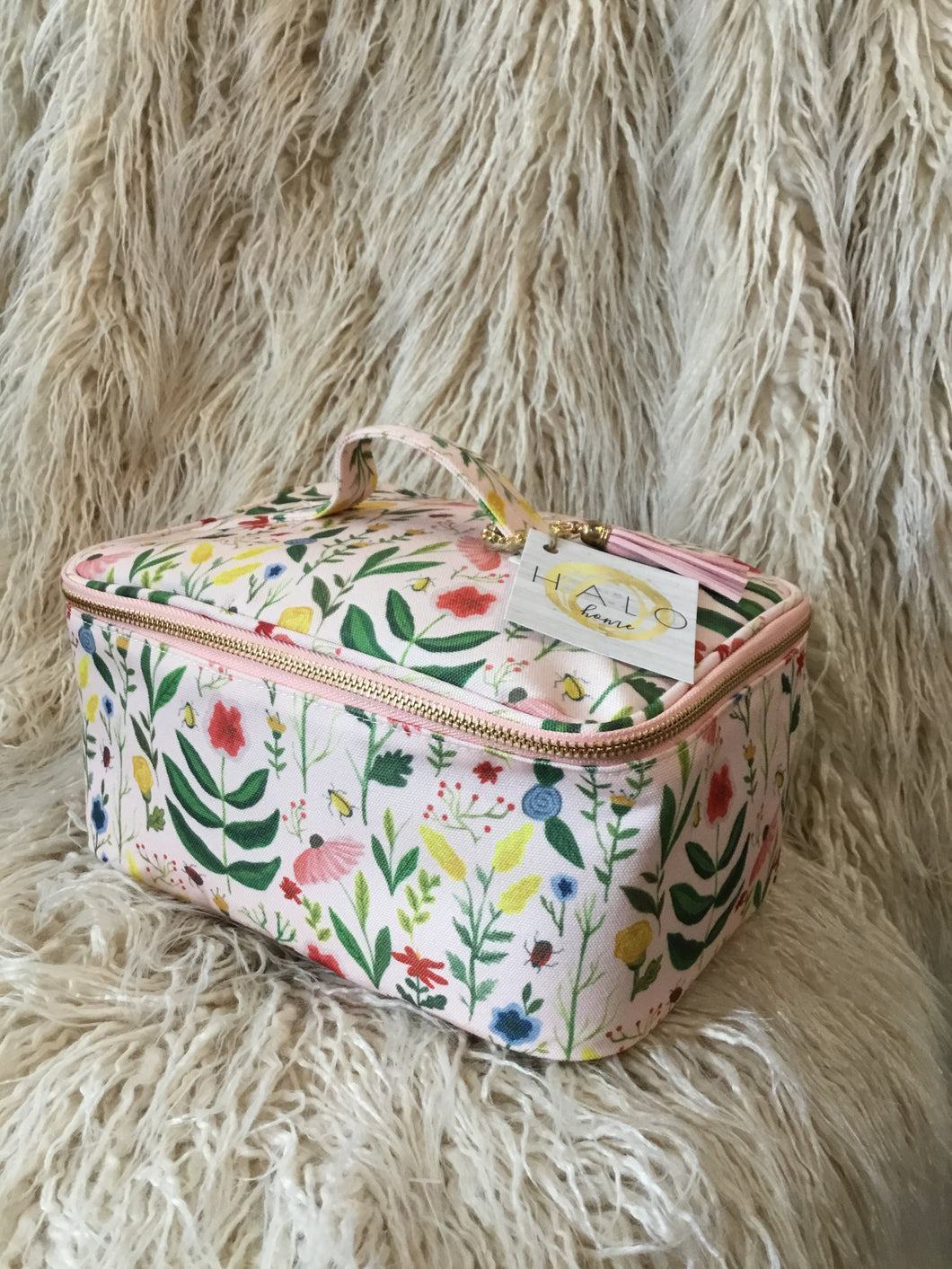 COSMETIC BAG Large Pink Floral