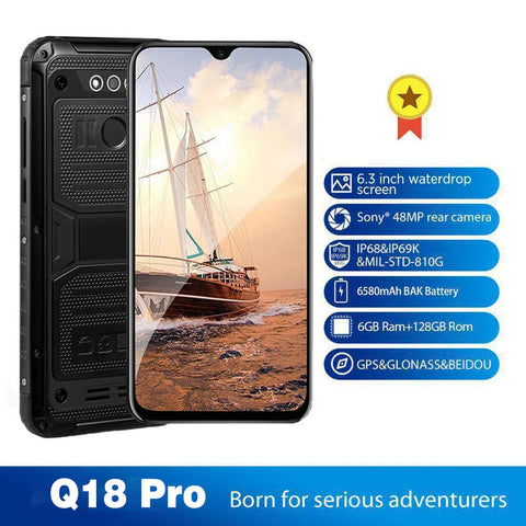 (🔥 Spring Discounts| 45%OFF)Q18 XT2500 Pro Global Smartphone Helio X30 Android 8.1 6GB+128GB Waterproof 6580mAh Mobile Phone
