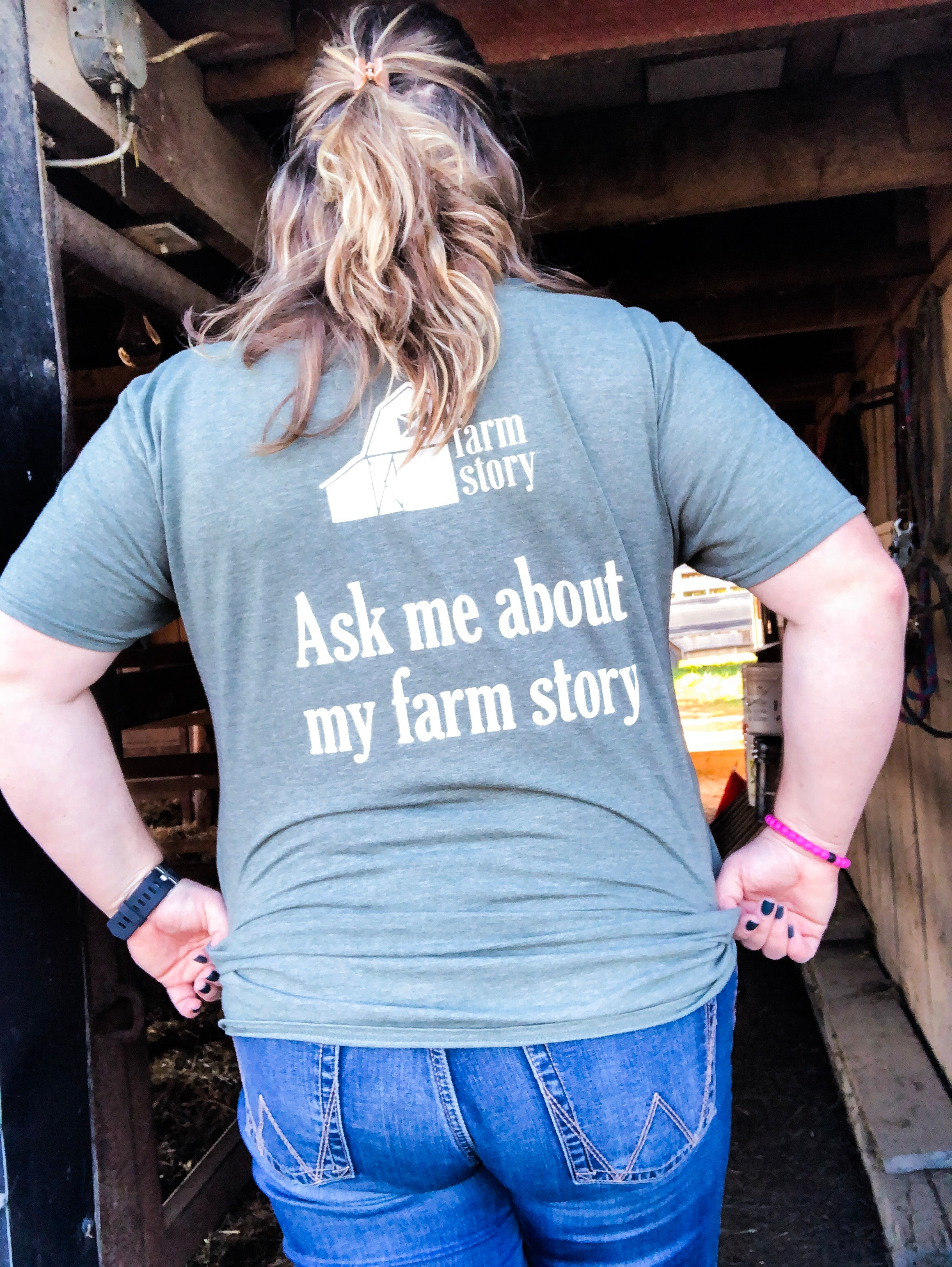"""Ask Me About My Farm Story"" T-Shirt"