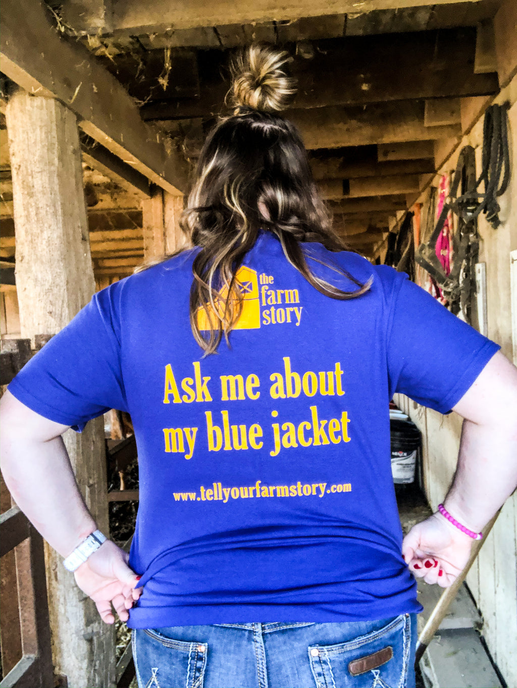 """Ask Me About My Blue Jacket"" T-Shirt"